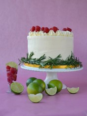 Raspberry Mojito Cake